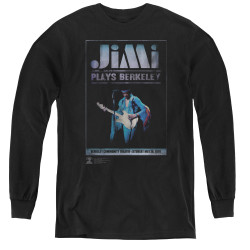 Image for Jimi Hendrix Youth Long Sleeve T-Shirt - Jimi Plays Poster