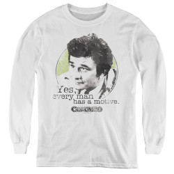 Image for Columbo Youth Long Sleeve T-Shirt - Motive