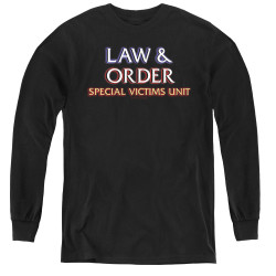 Image for Law and Order Youth Long Sleeve T-Shirt - SVU Logo