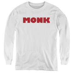 Image for Monk Youth Long Sleeve T-Shirt - Logo