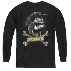 Image for Popeye the Sailor Youth Long Sleeve T-Shirt - Brutus