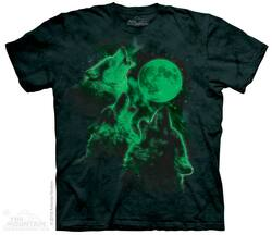 Image for The Mountain T-Shirt - Three Wolf Moon Glow