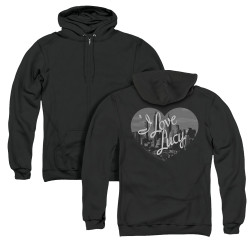 Image for I Love Lucy Zip Up Back Print Hoodie - Nostalgic City