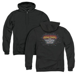 Image for Star Trek Zip Up Back Print Hoodie - The Wrath of Khan Logo