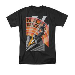 Image for Power Rangers T-Shirt - Black Ranger Deco