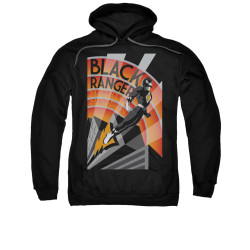 Image for Power Rangers Hoodie - Black Ranger Deco