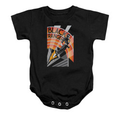 Image for Power Rangers Baby Creeper - Black Ranger Deco