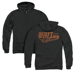Image for Scott Weiland Zip Up Back Print Hoodie - Logo