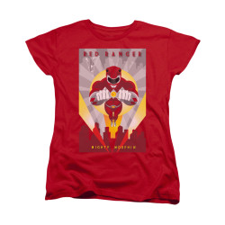 Image for Power Rangers Woman's T-Shirt - Red Ranger Deco