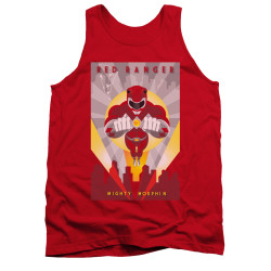 Image for Power Rangers Tank Top - Red Ranger Deco