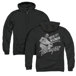 Image for Ted Nugent Zip Up Back Print Hoodie - Madman
