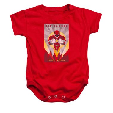 Image for Power Rangers Baby Creeper - Red Ranger Deco