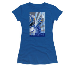 Image for Power Rangers Girls T-Shirt - Blue Ranger Deco