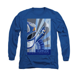 Image for Power Rangers Long Sleeve T-Shirt - Blue Ranger Deco