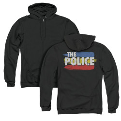 Image for The Police Zip Up Back Print Hoodie - Three Stripes