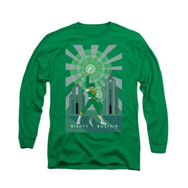 Image for Power Rangers Long Sleeve T-Shirt - Green Ranger Deco