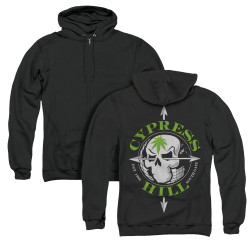 Image for Cypress Hill Zip Up Back Print Hoodie - Skull and Arrows