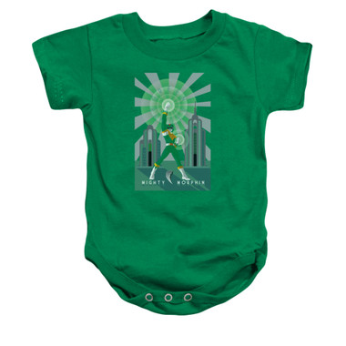 Image for Power Rangers Baby Creeper - Green Ranger Deco