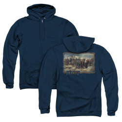 Image for The Hobbit Zip Up Back Print Hoodie - Lonely Mountain