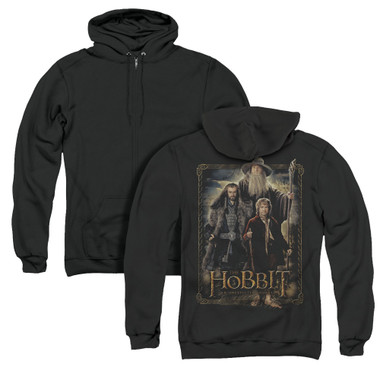 Image for The Hobbit Zip Up Back Print Hoodie - The Three