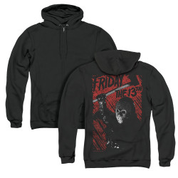 Image for Friday the 13th Zip Up Back Print Hoodie - Jason Lives
