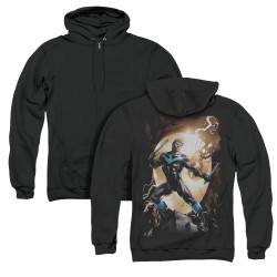 Image for Batman Zip Up Back Print Hoodie - Nightwing Against Owls