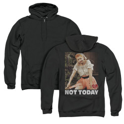 Image for I Love Lucy Zip Up Back Print Hoodie - Not Today