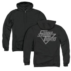 Image for Starship Troopers Zip Up Back Print Hoodie - Logo