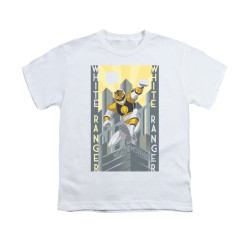 Image for Power Rangers Youth T-Shirt - White Ranger Deco