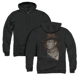 Image for John Wayne Zip Up Back Print Hoodie - the Duke