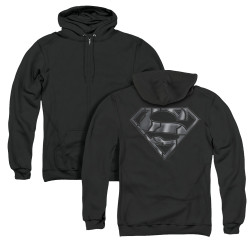 Image for Superman Zip Up Back Print Hoodie - Mech Shield