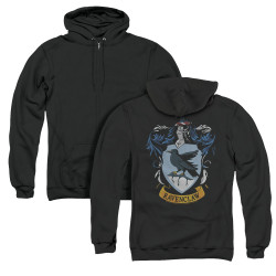 Image for Harry Potter Zip Up Back Print Hoodie - Ravenclaw Crest