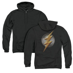 Image for Justice League Movie Zip Up Back Print Hoodie - Flash Logo