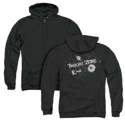 Image for The Twilight Zone Zip Up Back Print Hoodie - E=MC2