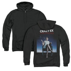 Image for Crazy Ex-Girlfriend Zip Up Back Print Hoodie - Crazy Instinct