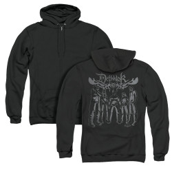 Image for Metalocalypse Zip Up Back Print Hoodie - Deathklok Band