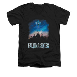Image for Falling Skies V-Neck T-Shirt Main Players