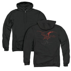 Image for The Hobbit Zip Up Back Print Hoodie - Smaug
