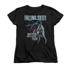 Image for Falling Skies Woman's T-Shirt - Battle or Become