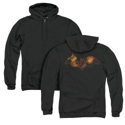 Image for Batman Zip Up Back Print Hoodie - Molten Logo