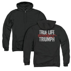 Image for Bloodsport Zip Up Back Print Hoodie - True Story