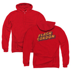 Image for Flash Gordon Zip Up Back Print Hoodie - Logo