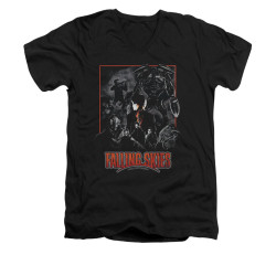 Image for Falling Skies V-Neck T-Shirt Collage