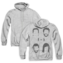 Image for It's Always Sunny in Philadelphia Zip Up Back Print Hoodie - Casted Shadows