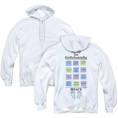 Image for Office Space Zip Up Back Print Hoodie - Jump to Conclusions