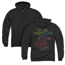 Image for John Lennon Zip Up Back Print Hoodie - All Shine On