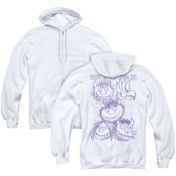 Image for Where the Wild Things Are Zip Up Back Print Hoodie - Wild Sketch