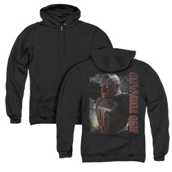 Image for Supergirl Zip Up Back Print Hoodie - Red Tornado