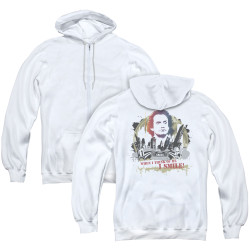 Image for Taxi Zip Up Back Print Hoodie - Smiling Jim