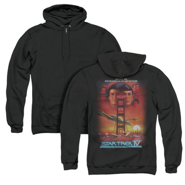 Image for Star Trek Zip Up Back Print Hoodie - The Voyage Home